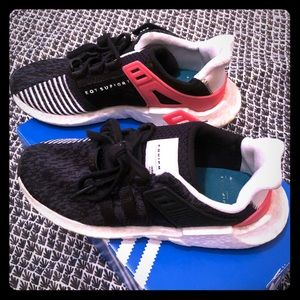 Adidas EQT Support 93/17 Core Black Turbo Sneakers